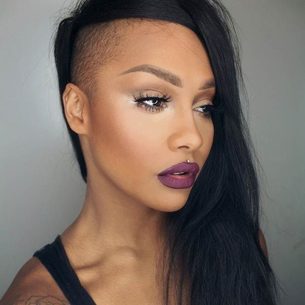 Shaved Hairstyles shaved hairstyle for short hair 23 Most Badass Shaved Hairstyles For Women