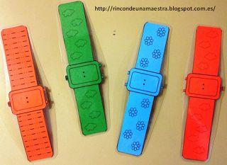 Rincón de una maestra: Reloj digital de muñeca