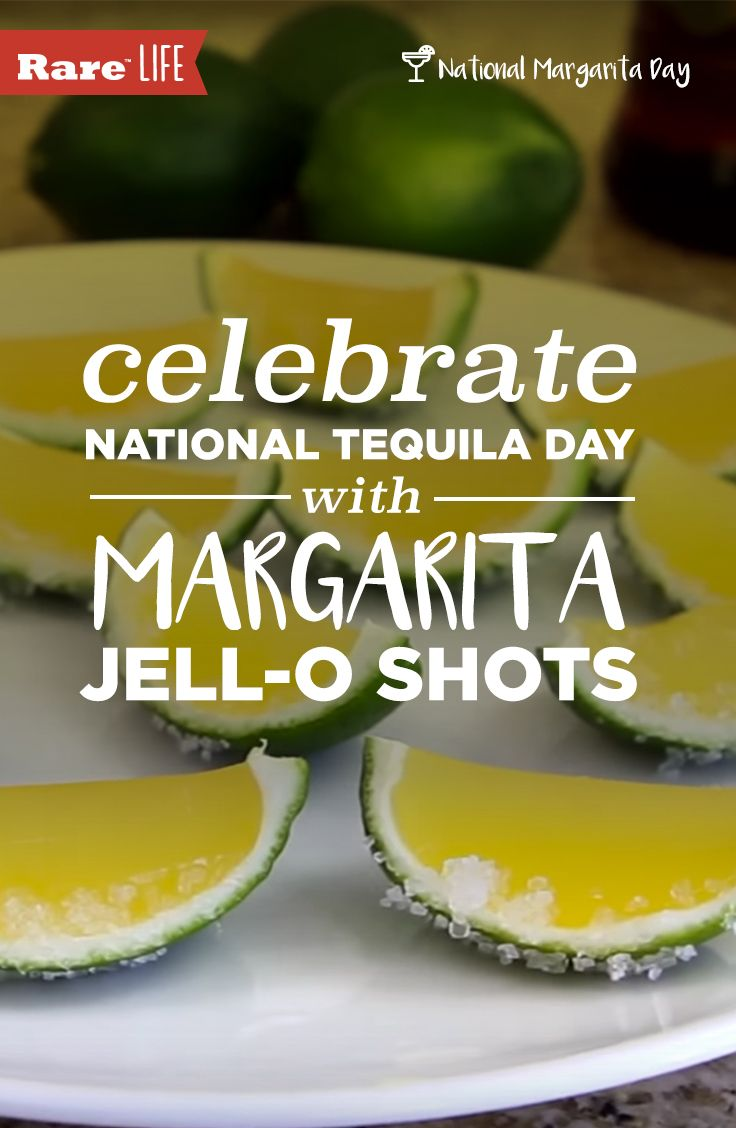 These margarita Jell-O shots are boozy, fun, and the perfect way to celebrate #NationalMargaritaDay!