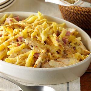 Chicken Cordon Bleu Pasta - sub broccoli slaw, cauli, spaghetti squash, zucchini noodles for pasta