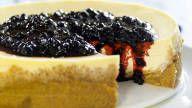 pastel de queso frito con arándanos 3