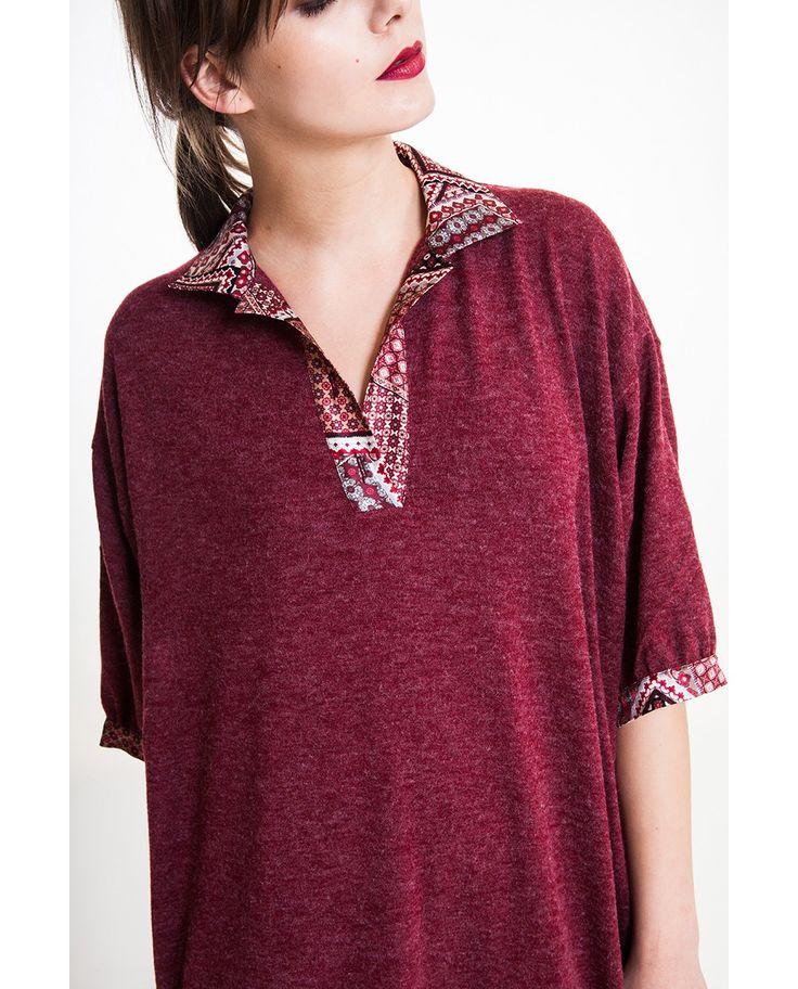 Angora wool blend and 100% silk dress