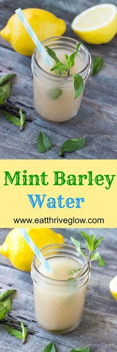 Fresh mint lemon barley water recipe. Learn how to this refreshing drink. Also discover barley water benefits from the ancient Greeks!