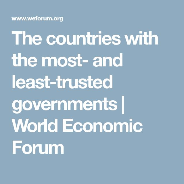 The countries with the most- and least-trusted governments | World Economic Forum
