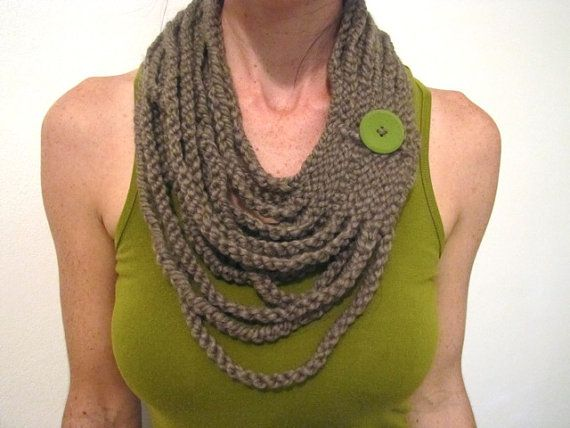 INSTANT DOWNLOAD Crochet PATTERN Chain Warmer pdf statement necklace infinity loop scarf for her via Etsy