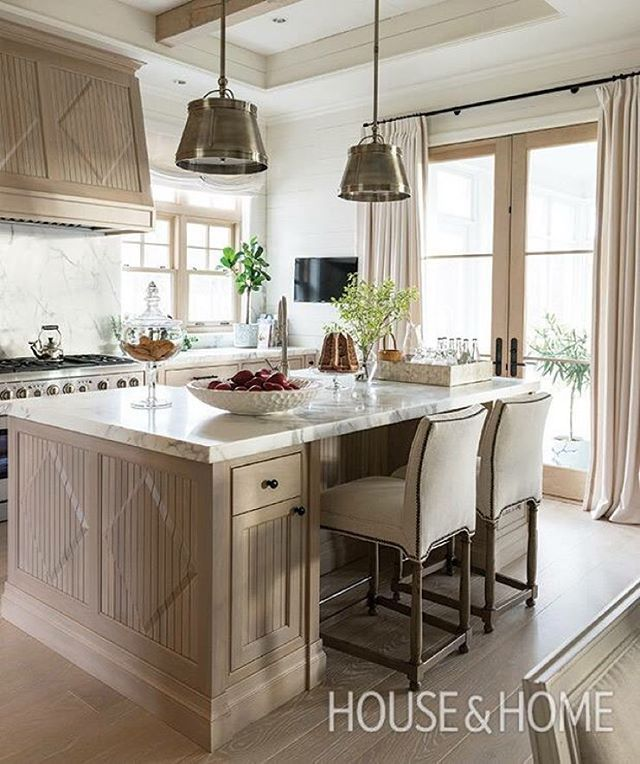 Rethinking beige, traditional kitchen