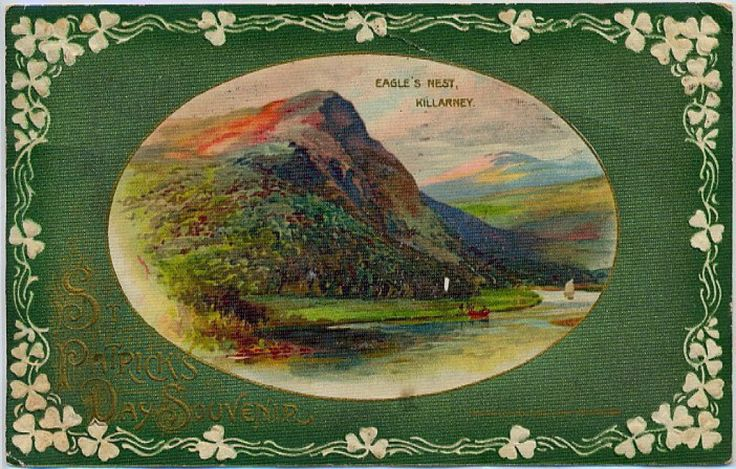 vintage postcard Eagle's Nest in Killarney, Ireland