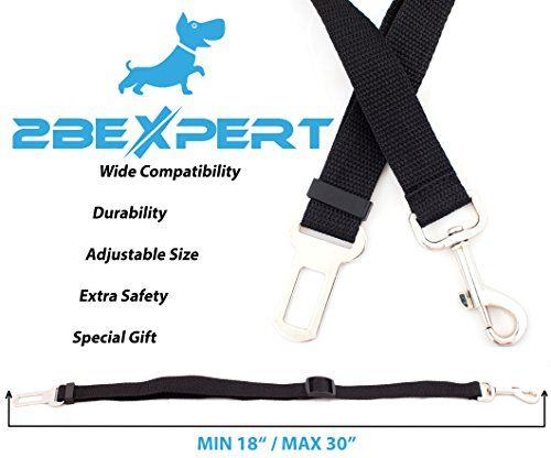 Pet Car Seat Belt, Adjustable Length, Universal Fit by 2B... https://www.amazon.com/dp/B073RGX9CF/ref=cm_sw_r_pi_dp_x_7W5CzbQ412W9K