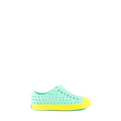 NATIVE SHOES JEFFERSON CHILD GLASS GREEN/BANANA YELLOW 13100100-3176 | Solestop.com
