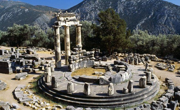 Mount Parnassus, Greece --   Towering above Delphi in central Greece, this limestone mountain looms large in Greek mythology. In addition to being sacred to the god Apollo, who often visited the nearby Oracle at Delphi, the mountain was thought to be the residence of the Muses and, as a result, the home of poetry and song.
