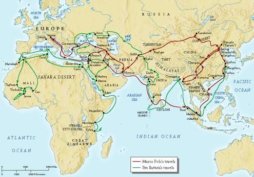 """Ibn Battuta's adventure. """"Never, if possible, cover any road a second time."""""""
