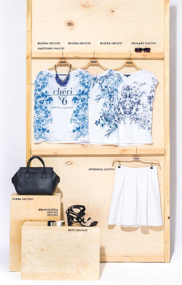 #koszulki w kwiaty na lato. Modna kolekcja Top Secret 2015