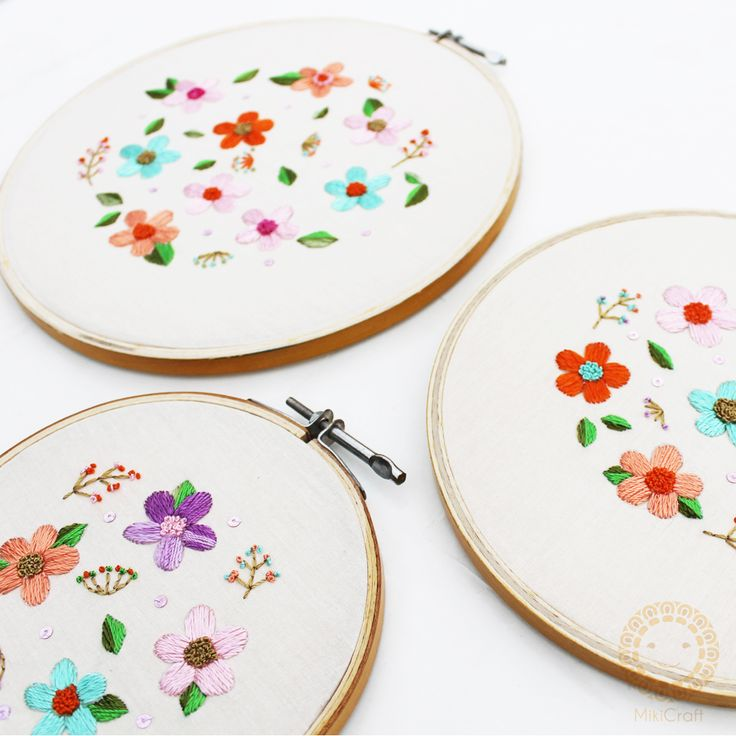 Flower embroidery hoops