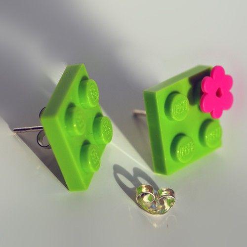 Orecchini verde acido by vicolopagliacorta $224