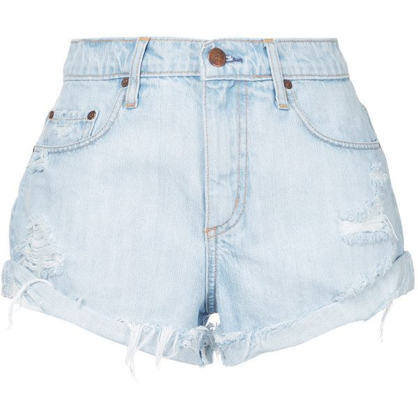 Nobody Denim Boho Short Vanished (1 340 SEK) ❤ liked on Polyvore featuring shorts, blue, bottoms, cloths, relaxed fit shorts, ripped short shorts, blue shorts, nobody denim and boho shorts