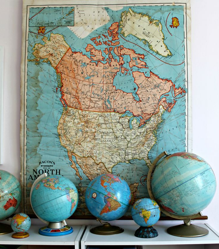 Julieu0027s Vintage globe and map collection 404