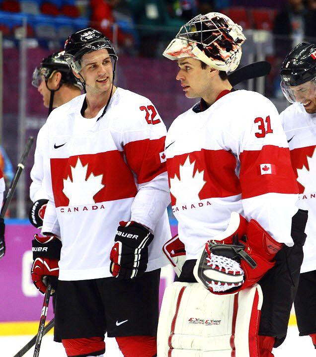 Jamie Benn and Carey Price #Sochi2014 (pricernellkarl / Tumblr)