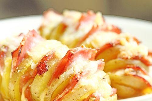 Patatas con Queso y Jamón al Horno Te enseñamos a cocinar recetas fáciles cómo la receta de Patatas con Queso y Jamón al Horno y muchas otras recetas de cocina.