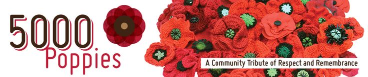 POPPY PATTERNS | 5000 POPPIES  A Community Tribute of Respect and Remembrance