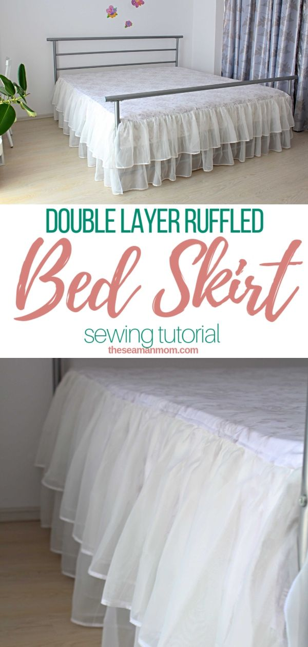 Ever wondered how to make a bed skirt yourself? With this DIY bed