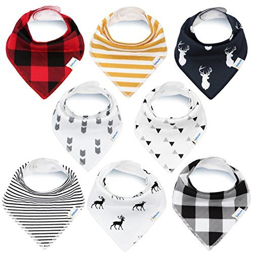 Bandana Baby Bibs for Boys and Girls by KiddyStar, Unisex 8-Pack 100% Organic Cotton Bib Set (Plaid), Cute Newborn and Cool Baby Shower Gift for Teething and Drooling, Soft and Absorbent - https://all4babies.co.business/bandana-baby-bibs-for-boys-and-girls-by-kiddystar-unisex-8-pack-100-organic-cotton-bib-set-plaid-cute-newborn-and-cool-baby-shower-gift-for-teething-and-drooling-soft-and-absorbent/  #100, #8Pack, #Absorbent, #Baby, #Bandana, #Bibs, #Boys, #Cool, #Cotton, #C