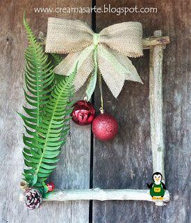 creamas manualidades: Cuadros rusticos navideños