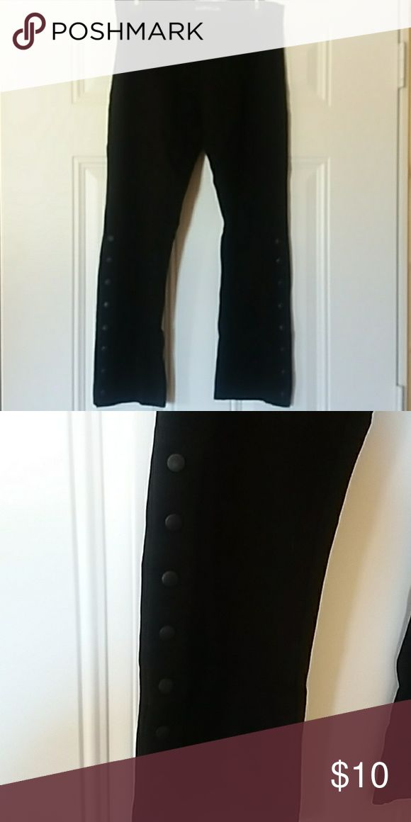 I just added this listing on Poshmark: Black crop pant, buttons down legs. #shopmycloset #poshmark #fashion #shopping #style #forsale #esquestrian #Pants