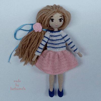 Кукла Лира амигуруми крючком