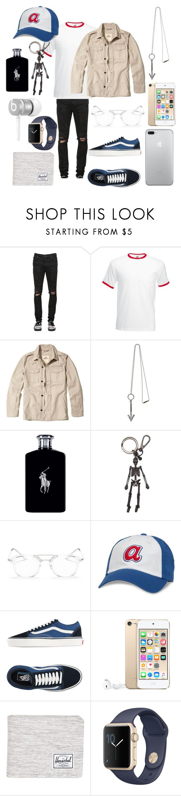 """Karev"" by vejacomotenpovoa ❤ liked on Polyvore featuring RtA, Fruit of the Loom, Hollister Co., Lanvin, Ralph Lauren, Alexander McQueen, Ray-Ban, American Needle, Vans and Beats by Dr. Dre"