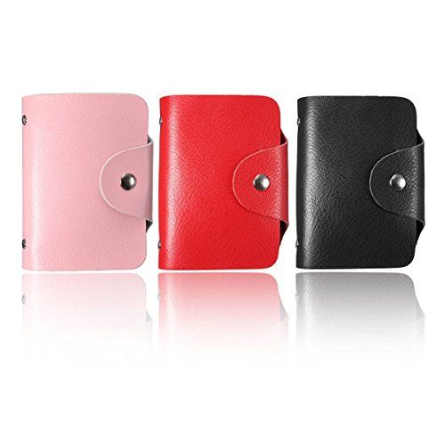 ELEGIANT Multifunktion weiche Qualit�t Brieftasche Kartenhalter Visitenkartenetui Visitenkartenmappe Visitenkarten Sammler Rot