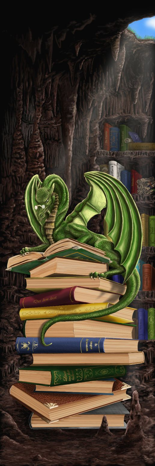 Dragon and books