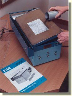 FHNDI  http://www.fosterfreeman.com/index.php/fingerprint-evidence/esda-2-col-180-electrostatic-imaging-device