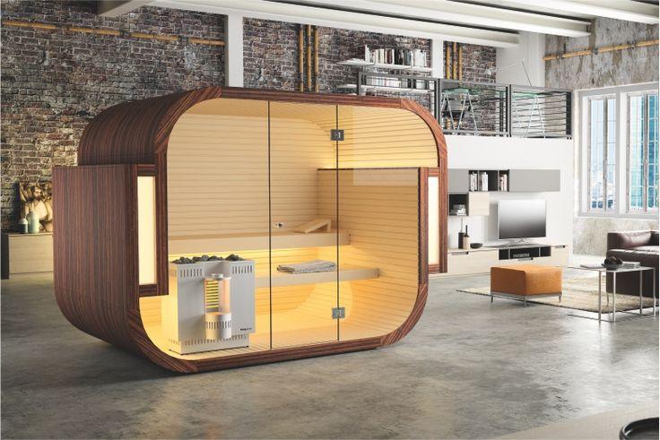 Aussensauna Omnia - Entspannung in der Natur Hergestellt von Küng - schlichtes sauna design holz seeblick
