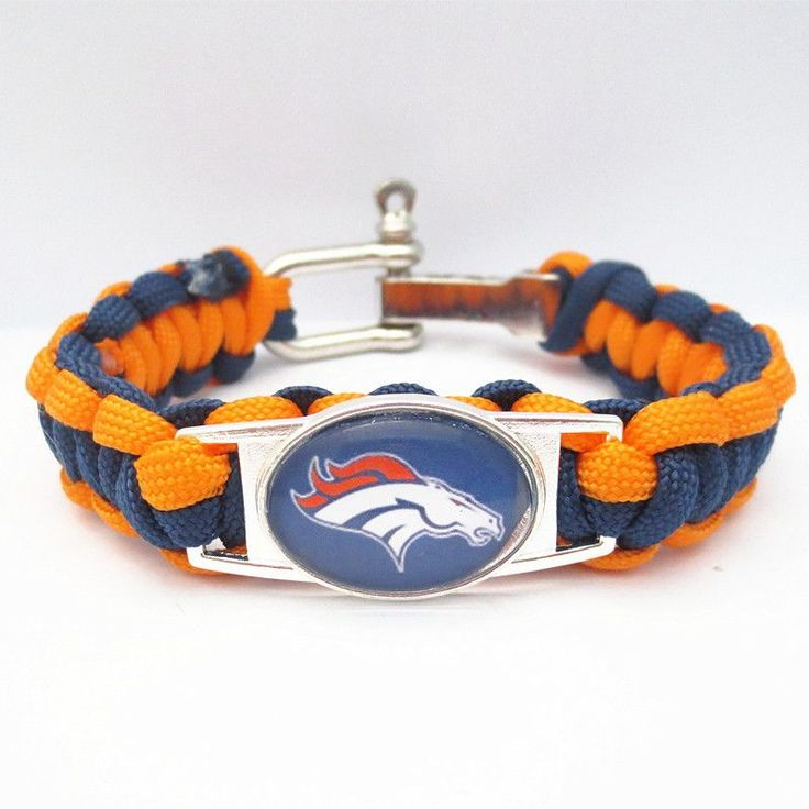 NFL Denver Broncos Football Team Bracelet