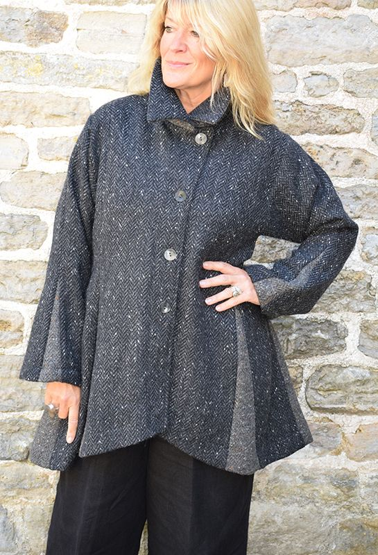 New Godet Jacket in tweeds from £365.