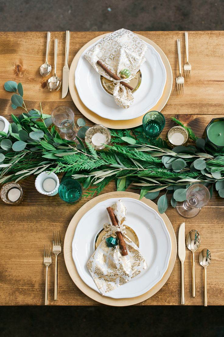 White, Gold, and Green Wedding | Sally Mae Photography - www.sallymaephoto.com Read More: http://www.stylemepretty.com/2014/12/23/wreath-making-holiday-bridal-shower/