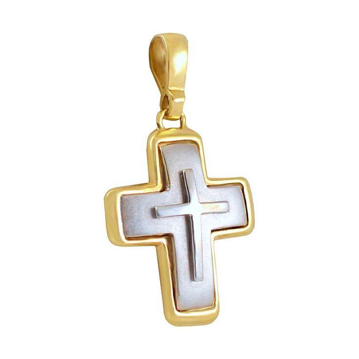 ΣΤ521P -Χρυσός βαπτιστικός σταυρός