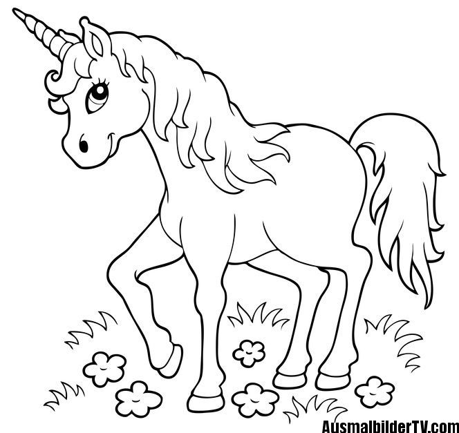 AUSMALBILD EINHORN | coloring sheets | Unicorn coloring pages