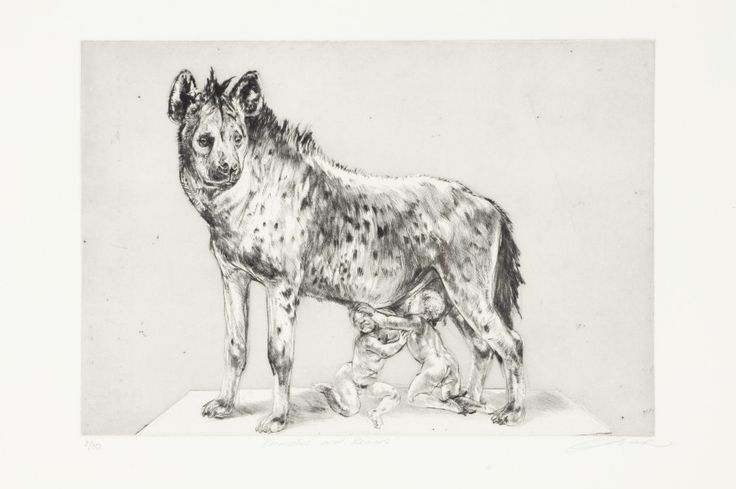Victor-Romulus And Remus 2009- Drypoint -HR