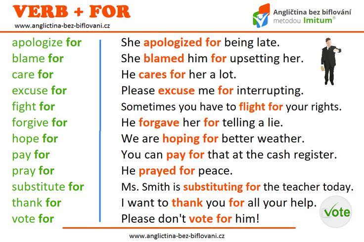 Pojďme se podívat na spojení anglických sloves a předložky 🇫️🇴️🇷️. #anglictina #sloveso #predlozka #for