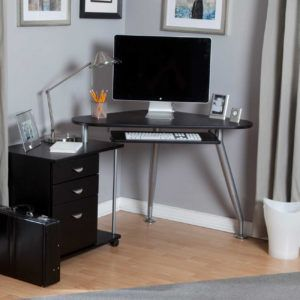 Compact Corner Computer Desk With Storage