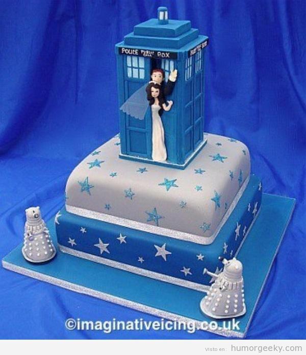 Tarta boda de Dr. Who