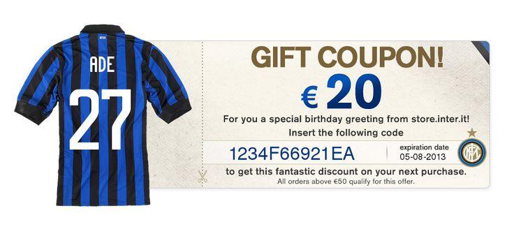 Respek untuk Inter, disaat saya ulang tahun saya diberikan voucher belanja di Inter Store.. Grazie Inter..