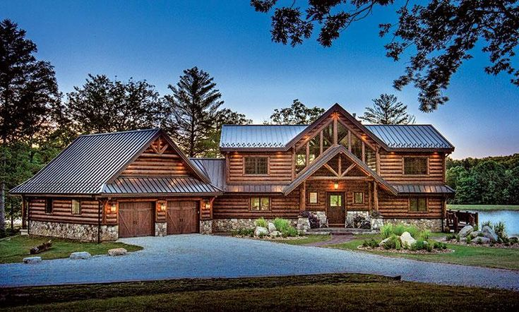 The Log Home Lakefront Property Home Tour We Can't Stop Looking At