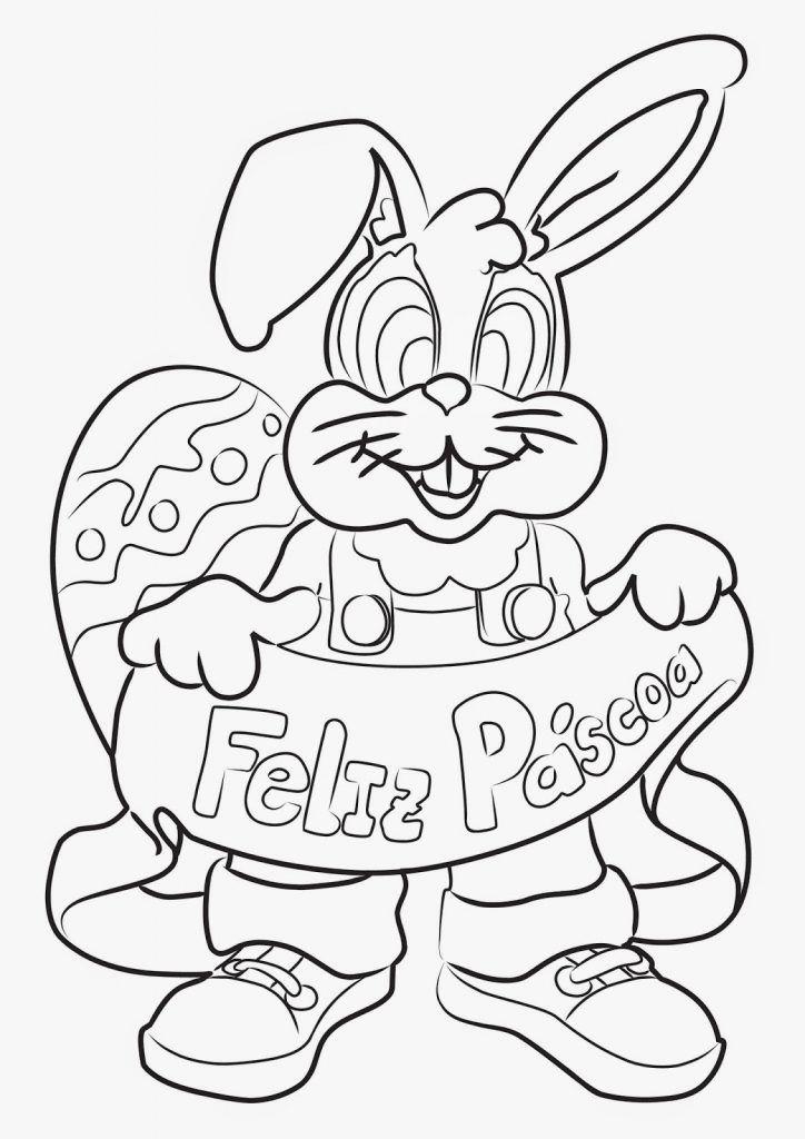 Desenhos De Coelho Da Pascoa Para Colorir E Imprimir Coelhinho