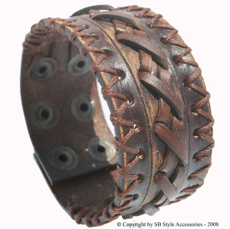 SB SURFER leather bracelet genuine leather wristband first class leather cuff men's bracelet worn brown by LeatherBraceletStore on Etsy https://www.etsy.com/listing/206860726/sb-surfer-leather-bracelet-genuine