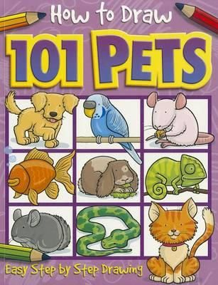 """There are lots of books in this """"How To Draw 101"""" series - monsters, things that go, fairies, dinosaurs, funny people, cartoons and more. This title give step by step instructions on how to draw 101 different pets."""