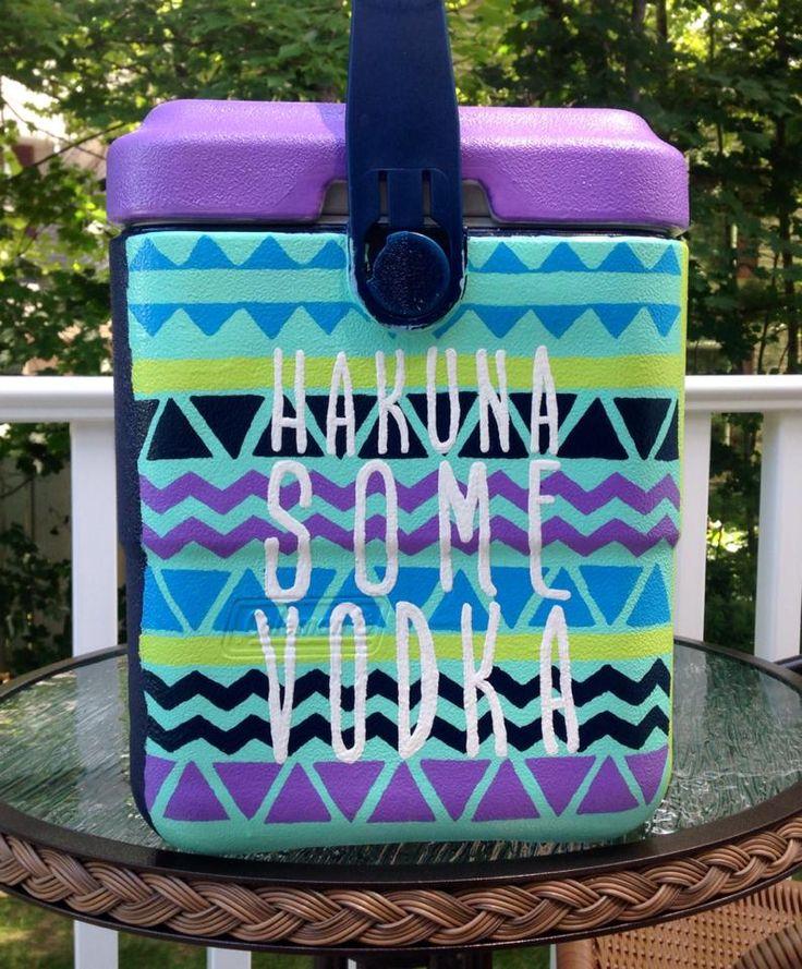 Diy Painted Cooler : Best images about cooler ideas tfm tsm on pinterest