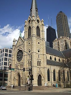 I love the architecture of this church in Chicago.  Holy Name Cathedral.  I was there the week before the fire in Feb. 2009.