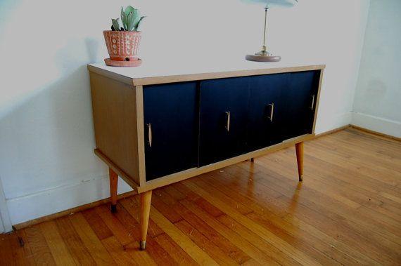 record cabinet credenza vintage modern mid century modern vintage ...